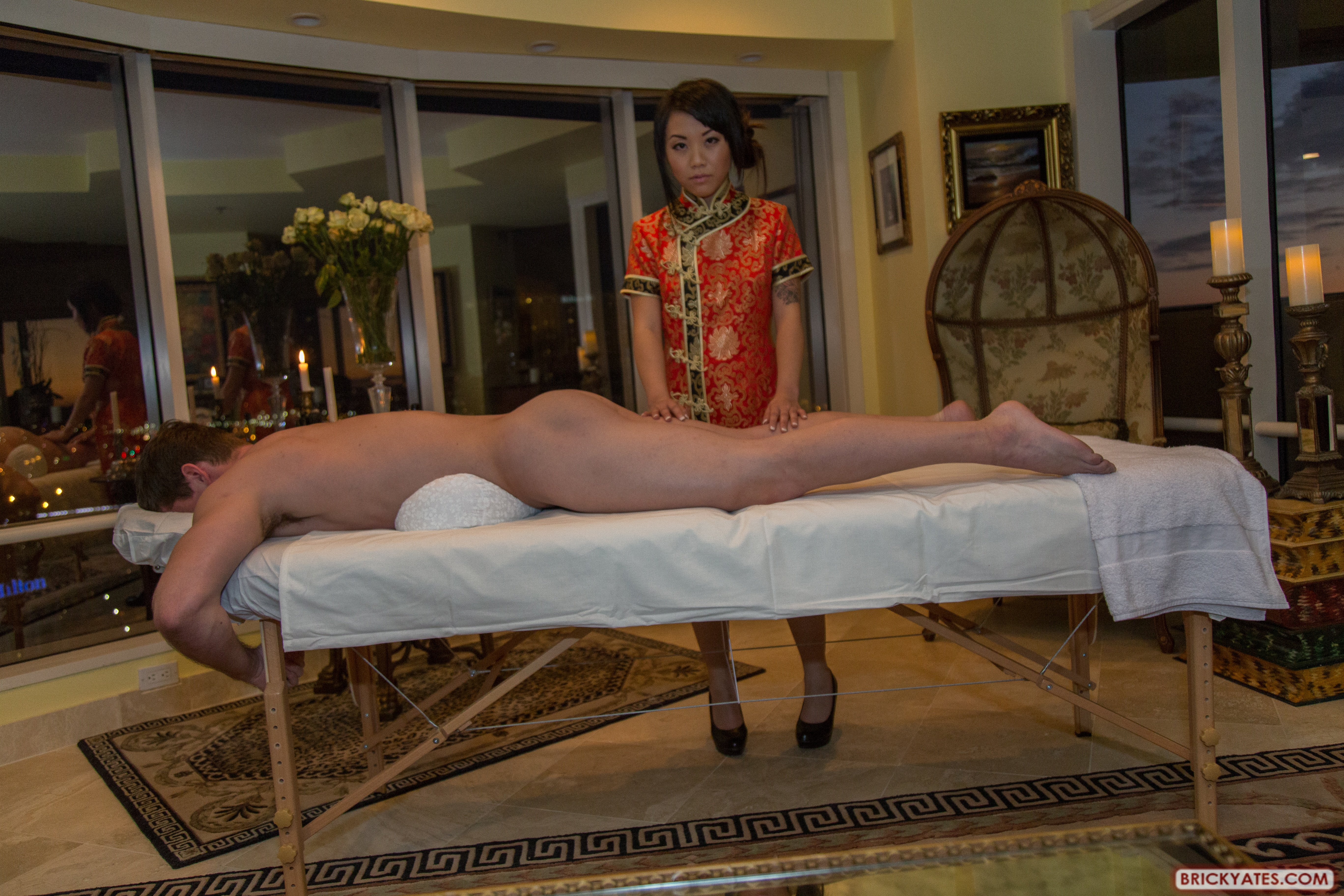 Happy asian ending masseuse